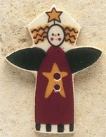 43072 - Garden Angel with Star - 1in x 1 1/4in